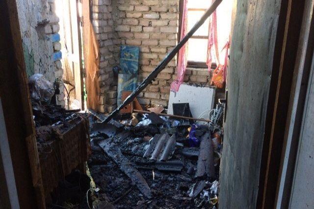 В Овчинном городке сгорел дом