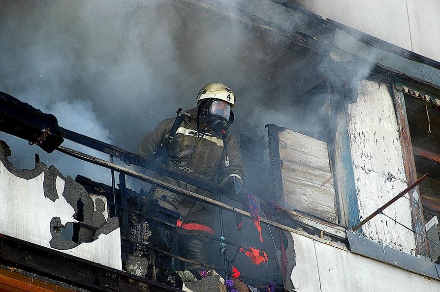 На Комсомольской сегодня ночью произошел пожар